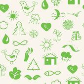 Verde ecologia senza soluzione di continuità — Vettoriale Stock