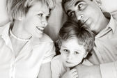 Happy family - father, mother and son — Stock Photo