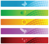 Vector set of colorful banners. — Stock Vector