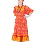 mulher na roupa tradicional russa — Foto Stock