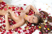 Rose Woman — Stock Photo