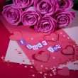 Flowers and letter -  