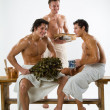 Men After The Bath — Stock Photo