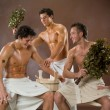 Men After The Bath - Stock Photo