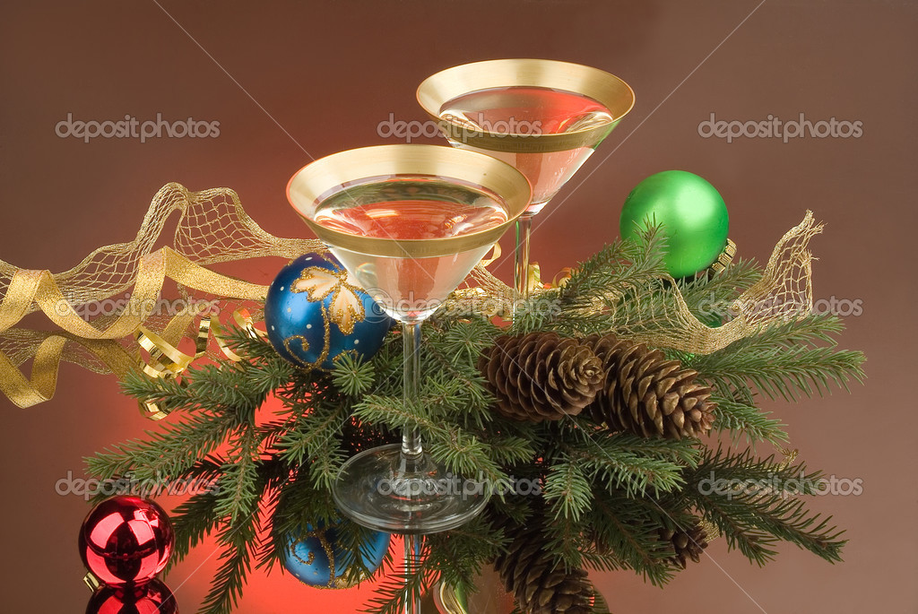 Still life with new year and christmas accessories  Stock Photo #2983275