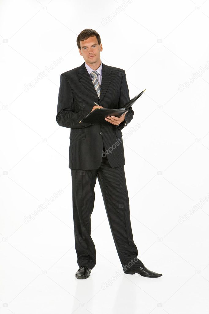 Young man in different office situations  Stock Photo #2990674