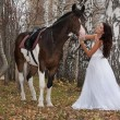 Stock Photo: Young Woman And Horse