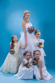Young Bride With Bridesmaids — Stock Photo