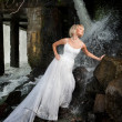 Young Bride On A River — Stock Photo #3814318