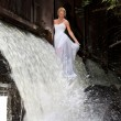 Young Bride On A River — Stock Photo #3814655
