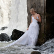 Young Bride On A River — Stock Photo #3815462