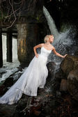 Young Bride On A River — Stock Photo