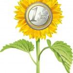 Sonnenblume Euro — Stock Vector #2711589