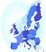 Europa karte eu — Stock Vector