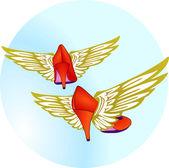 Pums Flügel — Stockvektor