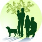 Mutter, Vater, Kinder und Hund — Stock Vector #2720545