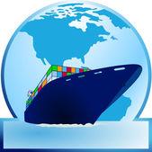 Containerschiff — Stock Vector