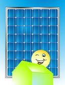 Solar-haus — Stock Vector
