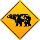 Bär Schild — Stock Vector