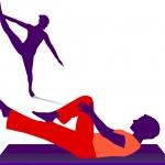 Gymnastik - Tanzen — Stock Vector