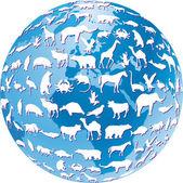 Welt tierwelt — Stock Vector