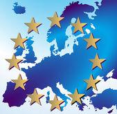 Europa karte — Stock Vector
