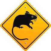 Ratte schild — Stock Vector