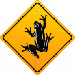 Frog sign — Stock Vector #2915473