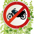Stock Vector: Motorbike road sign