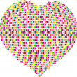 Mosaic heart — Stock Vector