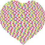 Mosaic heart — Stock Vector