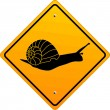 Snail sign — Stock Vector