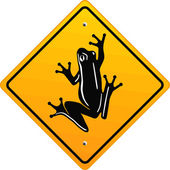 Frog sign — Stock Vector