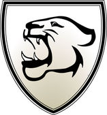 Predator emblem — Stock Vector