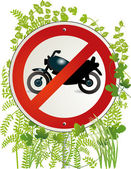Motorbike road sign — Stock Vector