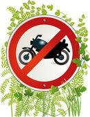 Motorbike road sign — Stock Vector