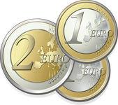 2-parts euro — Stock Vector