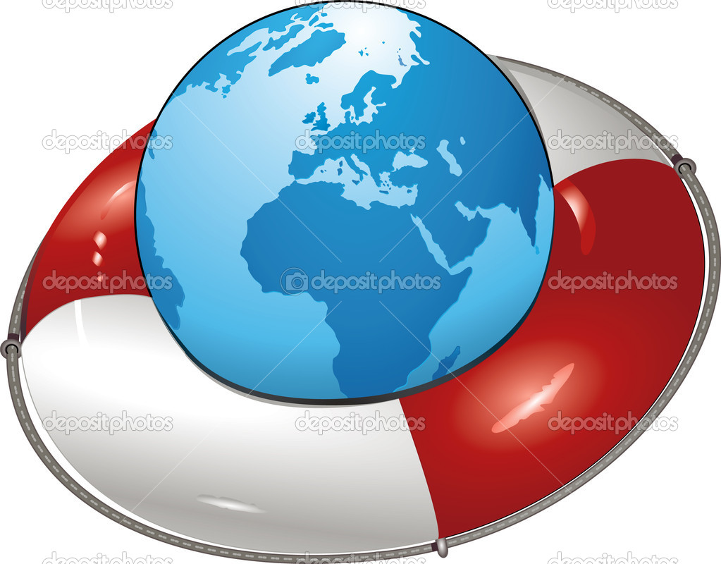 Earth lifesaver — Stock Vector #2915529