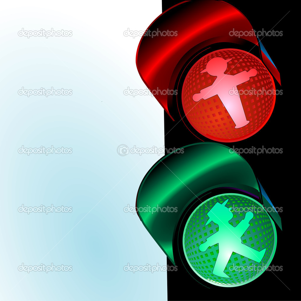 Traffic control signal, little man   Stock Vector #2918397