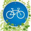 Stock Vector: Bicyclist road sign