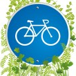 Bicyclist road sign — Stockvektor #2926144