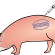 Swine influenza fore-handedness - Stockvektor