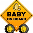 Stock Vector: Baby on board