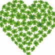 Heart shamrock — Stock Vector
