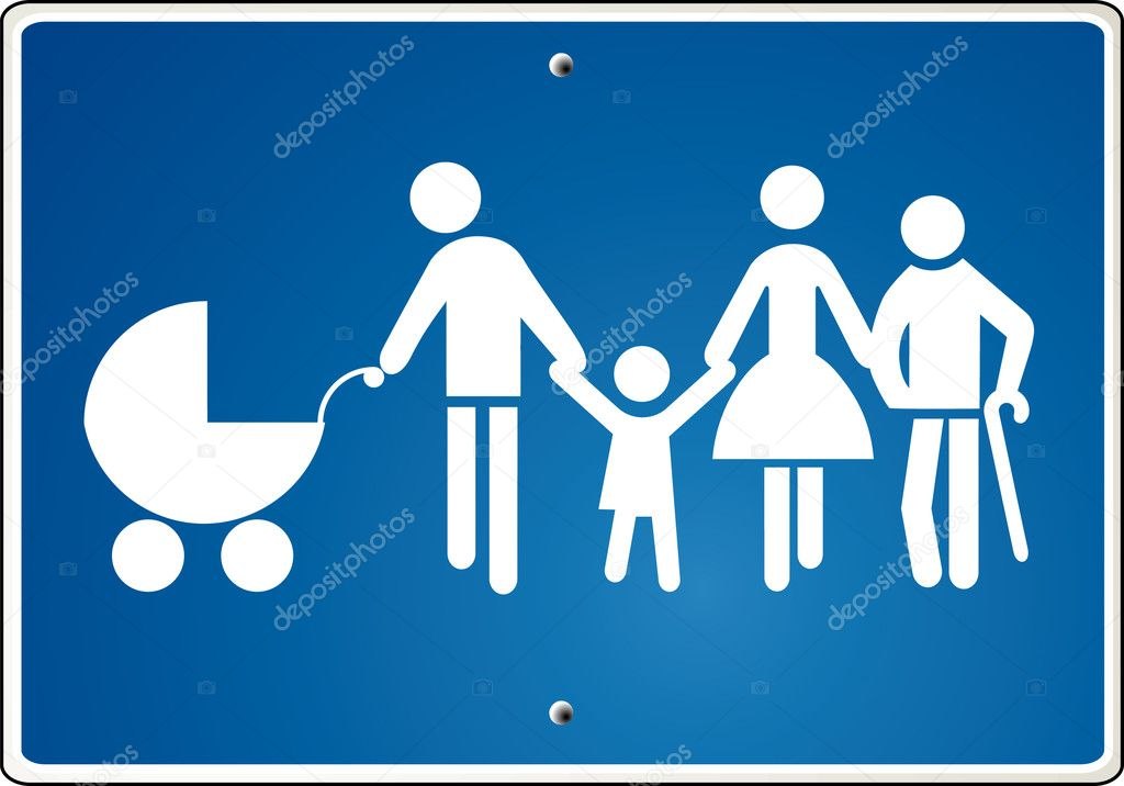 Extended family, warning  — Stock Vector #2926237