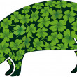 Stock Vector: Lucky pig