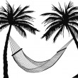 Stock Vector: Palm hammock