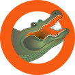 Stock Vector: Alligator sign