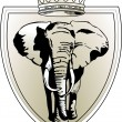 Vettoriale Stock : Elephant crown