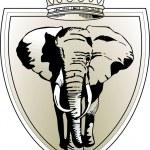 Слон Корона — Cтоковый вектор